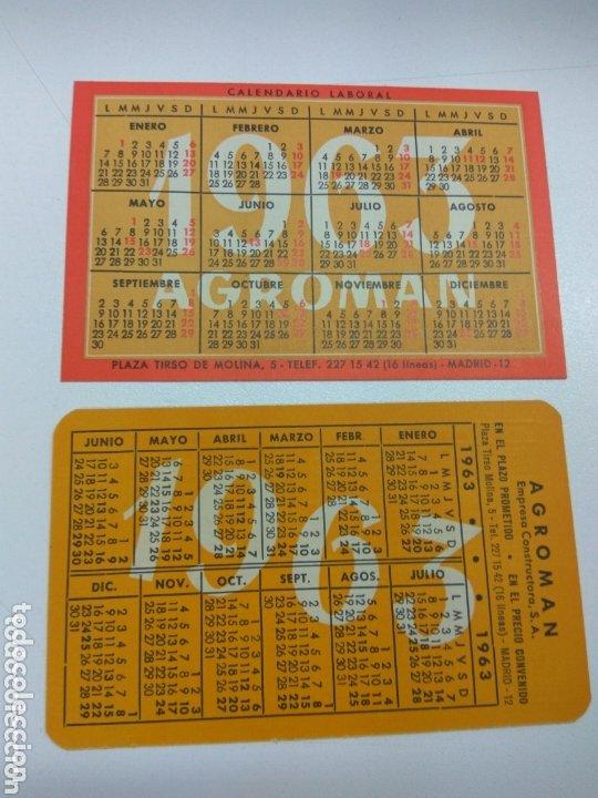 Coleccionismo Calendarios: CALENDARIO DE BOLSILLO AGROMAN 1962-1963 DIFERENTES LOTE DE 2 - Foto 2 - 173439769