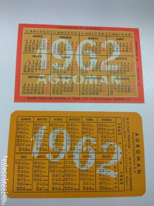 CALENDARIO DE BOLSILLO AGROMAN 1962-1963 DIFERENTES LOTE DE 2 (Coleccionismo - Calendarios)