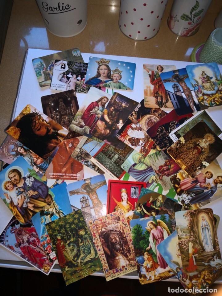 LOTE DE 35 CALENDARIOS DE BOLSILLOS MOTIVOS IMAGENES RELIGIOSAS (Coleccionismo - Calendarios)