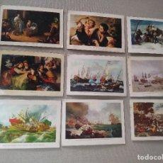 Coleccionismo Calendarios: 9 CALENDARIOS PUBLICIDAD GIJON , LANGREO ~ CUADROS GOYA , MURILLO , ETC..~(AÑOS 1971/72/73)VER FOTOS. Lote 173724709