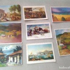 Coleccionismo Calendarios: 8 CALENDARIOS PUBLICIDAD GIJON ~ CUADROS GOYA , TEJERINA , ETC..~ (AÑOS 1970/71/72/73/78 ) VER FOTOS. Lote 173893418