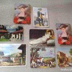 Coleccionismo Calendarios: 8 CALENDARIOS PUBLICIDAD GIJON ~ CUADROS GOYA,TEJERINA, ETC..~ (AÑOS 1971/72/73/74/77/78 ) VER FOTOS. Lote 173895315