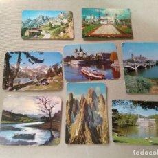 Coleccionismo Calendarios: 8 CALENDARIOS PUBLICIDAD GIJON , ASTURIAS...~ PAISAJES,PUEBLOS,ETC..~ (AÑOS 1971/72/73/77) VER FOTOS. Lote 173955768