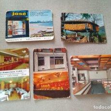 Coleccionismo Calendarios: 5 CALENDARIOS PUBLICIDAD GIJON ~ RESTAURANTES , TIENDAS , ETC ..~ (AÑOS 1971/72/77) VER FOTOS. Lote 173964055