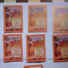 Coleccionismo Calendarios: 7 CALENDARIOS NO FOURNIER 2005 CALENDARIOS TEMÁTICA TOROS. Lote 174004110