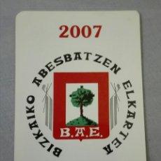 Coleccionismo Calendarios: -75891 CALENDARIO BBK, AÑO 2007, B.A.E., PUBLICIDAD BANCOS, DOS IDIOMAS. Lote 174047398