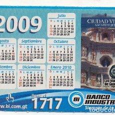 Coleccionismo Calendarios: CALENDARIO BANCO INDUSTRIAL 2009. Lote 174417374