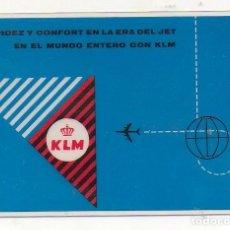 Coleccionismo Calendarios: CALENDARIO KLM PLASTIFICADO 1960. Lote 174417547