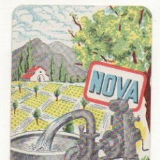 Coleccionismo Calendarios: CALENDARIO RIEGOS NOVA 1961. Lote 174417664
