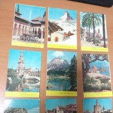 Coleccionismo Calendarios: ANTIGUO LOTE DE CALENDARIO PAISAJES, SITGES, GRANADA,SEVILLA,MONTSERRAT,COSTA BRAVA ETC.. AÑO1966 . Lote 174426565