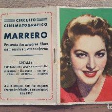 Coleccionismo Calendarios: ALMANAQUE DE BOLSILLO 1950 CIRCUITO CINEMATROGRAFICO MARRERO MADRID. Lote 174461664