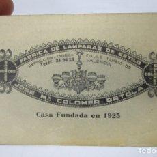 Coleccionismo Calendarios: INEDITO! CALENDARIO 1959 LAMPARAS JOSE MARIA COLOMER ORTOLA VALENCIA. Lote 174470980