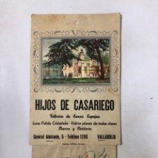 Coleccionismo Calendarios: VALLADOLID. CALENDARIO 1955. HIJOS DE CASARIEGO. ORIGINAL. VER FOTOS. . Lote 175193032