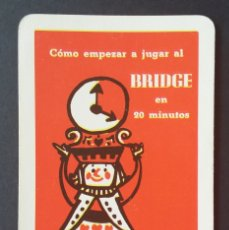 Coleccionismo Calendarios: CALENDARIO FOURNIER. FOURNIER, BRIDGE. 1961. Lote 175909348