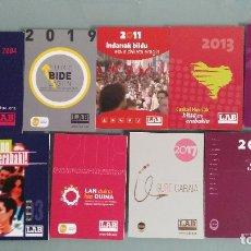 Coleccionismo Calendarios: 9 CALENDARIOS DEL SINDICATO LAB. Lote 113056218