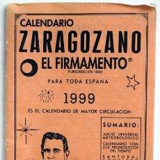 Coleccionismo Calendarios: CALENDARIO ZARAGOZANO. EL FIRMAMENTO. 1999. Lote 175939275