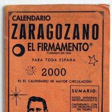 Coleccionismo Calendarios: CALENDARIO ZARAGOZANO. EL FIRMAMENTO. 2000. Lote 175939338