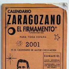 Coleccionismo Calendarios: CALENDARIO ZARAGOZANO. EL FIRMAMENTO. 2001. Lote 175939369
