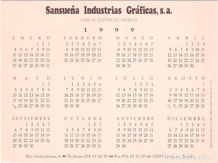 Coleccionismo Calendarios: Lote de 4 Postales Calendario de 1999. Gráficas Sansueña Zaragoza. EX - Foto 5 - 175948052