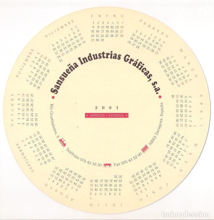 Coleccionismo Calendarios: Lote de 4 Postales Calendario de 2001. Gráficas Sansueña Zaragoza. EX - Foto 3 - 175948060