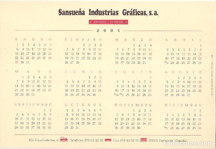 Coleccionismo Calendarios: Lote de 4 Postales Calendario de 2001. Gráficas Sansueña Zaragoza. EX - Foto 5 - 175948060