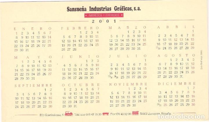 Coleccionismo Calendarios: Lote de 4 Postales Calendario de 2001. Gráficas Sansueña Zaragoza. EX - Foto 7 - 175948060