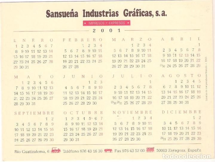 Coleccionismo Calendarios: Lote de 4 Postales Calendario de 2001. Gráficas Sansueña Zaragoza. EX - Foto 9 - 175948060