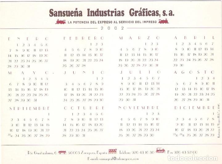 Coleccionismo Calendarios: Lote de 4 Postales Calendario de 2002. Gráficas Sansueña Zaragoza. EX - Foto 3 - 175984949