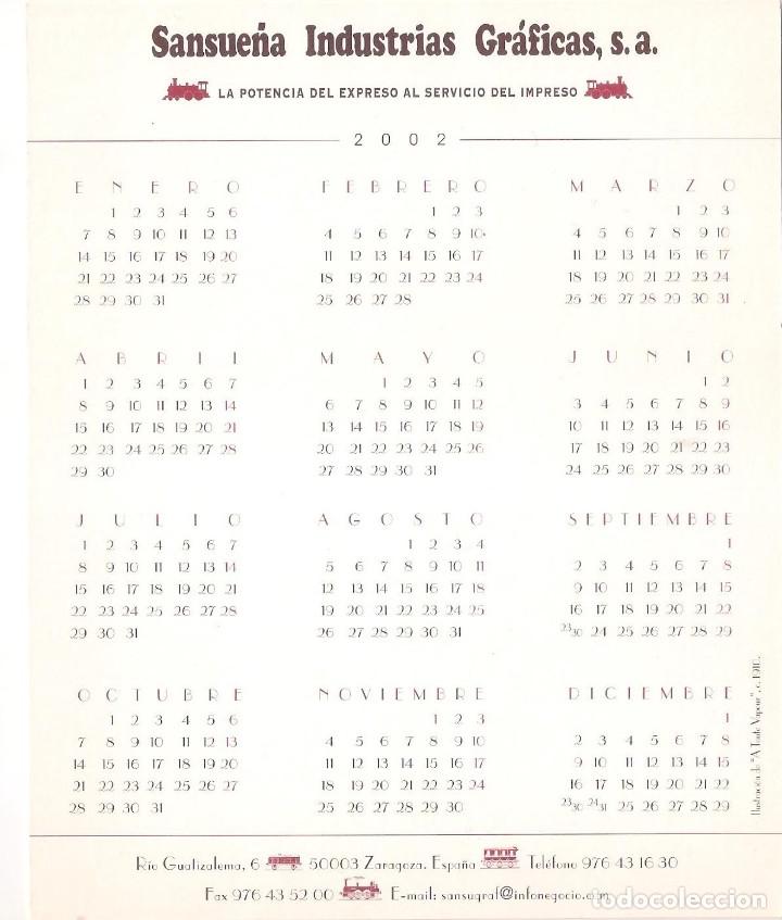 Coleccionismo Calendarios: Lote de 4 Postales Calendario de 2002. Gráficas Sansueña Zaragoza. EX - Foto 5 - 175984949
