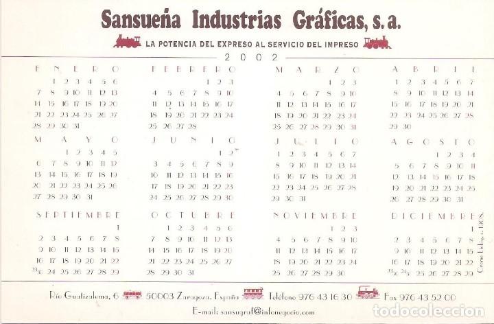 Coleccionismo Calendarios: Lote de 4 Postales Calendario de 2002. Gráficas Sansueña Zaragoza. EX - Foto 7 - 175984949