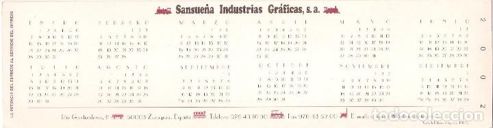 Coleccionismo Calendarios: Lote de 4 Postales Calendario de 2002. Gráficas Sansueña Zaragoza. EX - Foto 9 - 175984949