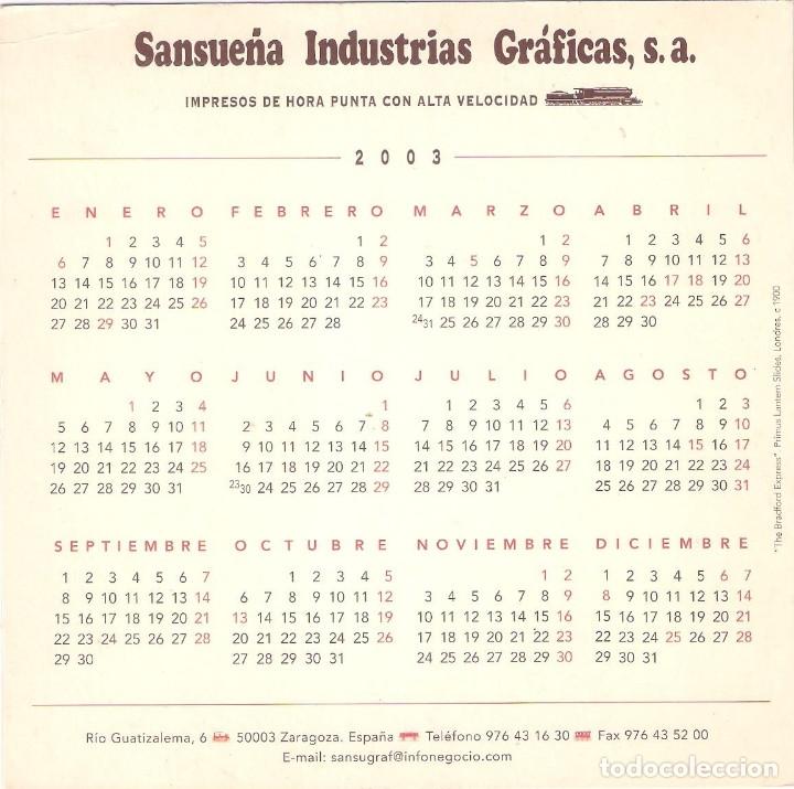 Coleccionismo Calendarios: Lote de 4 Postales Calendario de 2003. Gráficas Sansueña Zaragoza. EX - Foto 3 - 175991683
