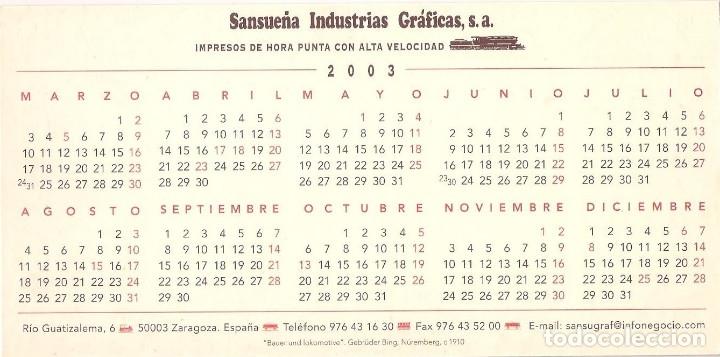 Coleccionismo Calendarios: Lote de 4 Postales Calendario de 2003. Gráficas Sansueña Zaragoza. EX - Foto 7 - 175991683