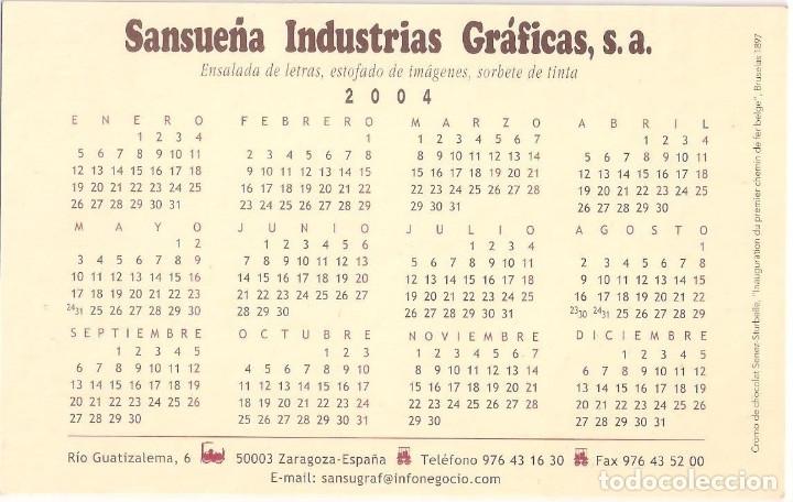 Coleccionismo Calendarios: Lote de 4 Postales Calendario de 2004. Gráficas Sansueña Zaragoza. EX - Foto 5 - 176015615