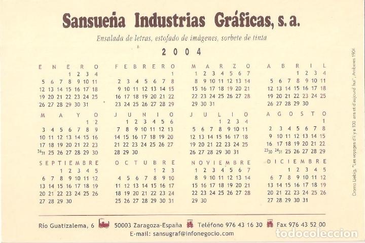 Coleccionismo Calendarios: Lote de 4 Postales Calendario de 2004. Gráficas Sansueña Zaragoza. EX - Foto 7 - 176015615