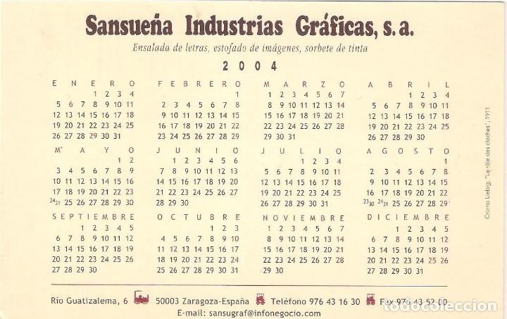 Coleccionismo Calendarios: Lote de 4 Postales Calendario de 2004. Gráficas Sansueña Zaragoza. EX - Foto 9 - 176015615