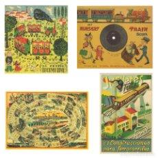 Coleccionismo Calendarios: LOTE DE 4 POSTALES CALENDARIO DE 2005. GRÁFICAS SANSUEÑA ZARAGOZA. EX. Lote 176015960