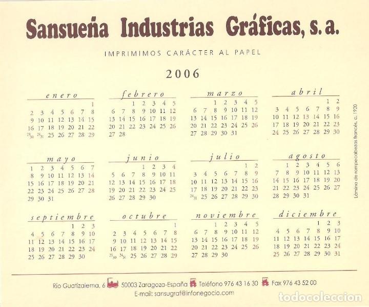 Coleccionismo Calendarios: Lote de 4 Postales Calendario de 2006 - Gráficas Sansueña Zaragoza. EX - Foto 3 - 176016310