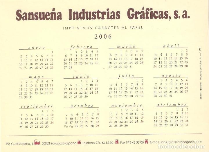 Coleccionismo Calendarios: Lote de 4 Postales Calendario de 2006 - Gráficas Sansueña Zaragoza. EX - Foto 7 - 176016310