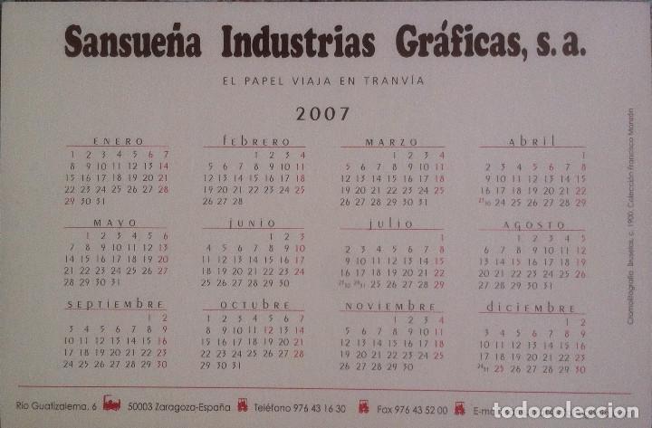 Coleccionismo Calendarios: Lote de 4 Postales Calendario de 2007 - Gráficas Sansueña Zaragoza. EX - Foto 3 - 176016694