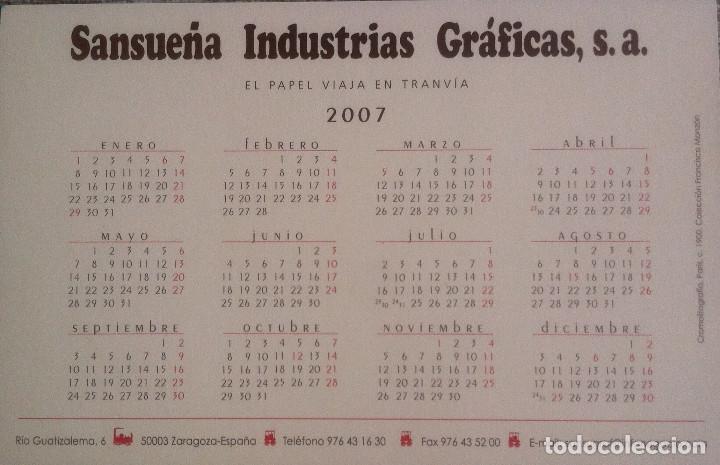 Coleccionismo Calendarios: Lote de 4 Postales Calendario de 2007 - Gráficas Sansueña Zaragoza. EX - Foto 5 - 176016694