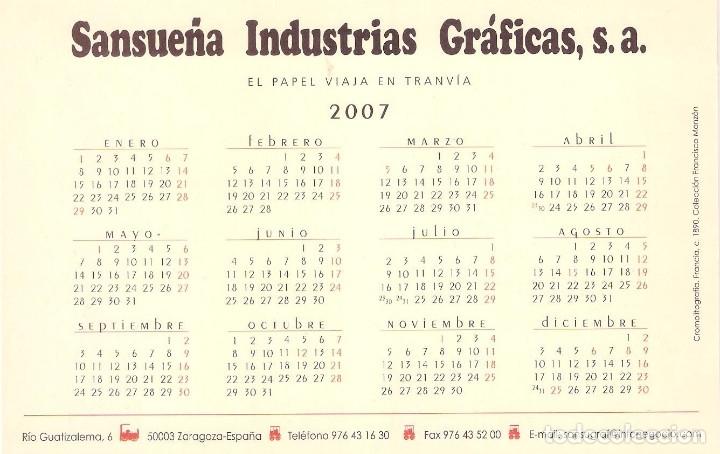 Coleccionismo Calendarios: Lote de 4 Postales Calendario de 2007 - Gráficas Sansueña Zaragoza. EX - Foto 7 - 176016694