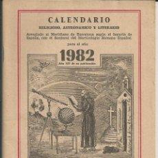 Coleccionismo Calendarios: CALENDARIO ERMITAÑO DE LOS PIRINEOS, FRAY RAMON, AÑO 1982 - RELIGIOSO, ASTRONOMICO,.... Lote 176033555