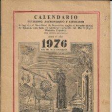 Coleccionismo Calendarios: CALENDARIO 1976 - *FRAY RAMON, ERMITAÑO DE LOS PIRINEOS*. Lote 176033587