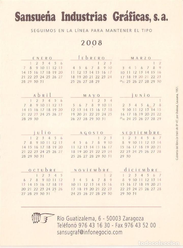 Coleccionismo Calendarios: Lote de 4 Postales Calendario de 2008 - Gráficas Sansueña Zaragoza. EX - Foto 5 - 176072023