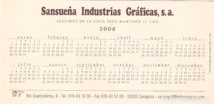 Coleccionismo Calendarios: Lote de 4 Postales Calendario de 2008 - Gráficas Sansueña Zaragoza. EX - Foto 9 - 176072023