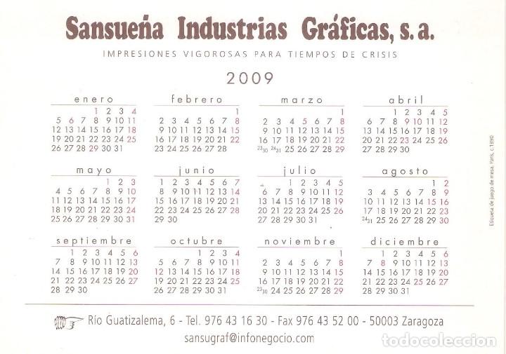 Coleccionismo Calendarios: Lote de 4 Postales Calendario de 2009 - Gráficas Sansueña Zaragoza. EX - Foto 5 - 176072855