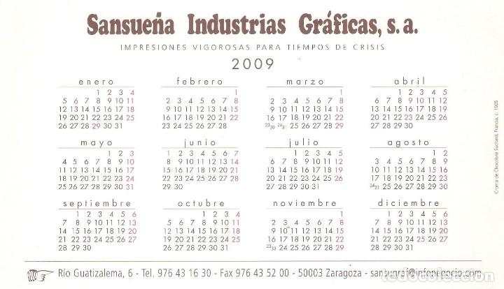 Coleccionismo Calendarios: Lote de 4 Postales Calendario de 2009 - Gráficas Sansueña Zaragoza. EX - Foto 9 - 176072855