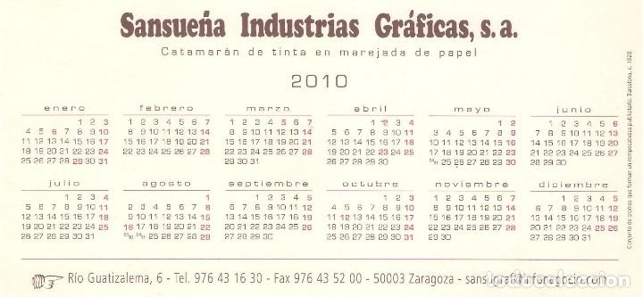 Coleccionismo Calendarios: Lote de 3 Postales Calendario de 2010 - Gráficas Sansueña Zaragoza. EX - Foto 5 - 176073622