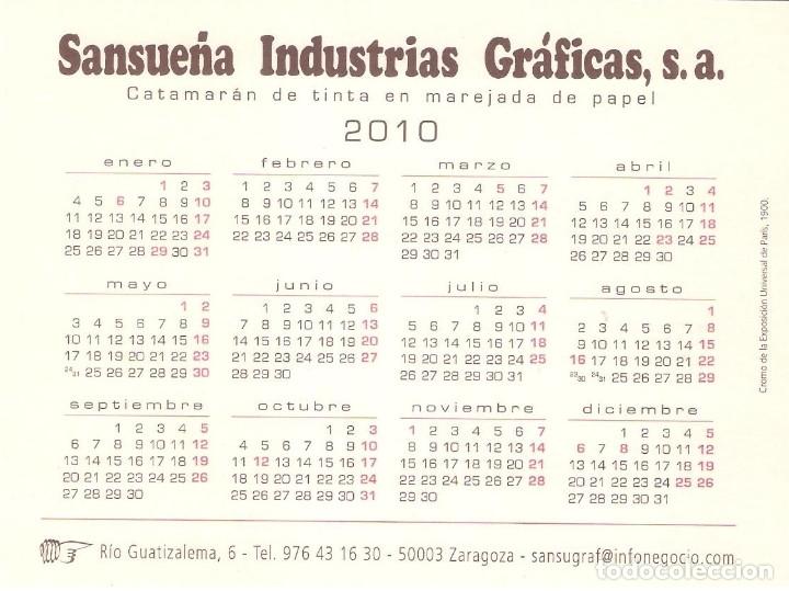 Coleccionismo Calendarios: Lote de 3 Postales Calendario de 2010 - Gráficas Sansueña Zaragoza. EX - Foto 7 - 176073622